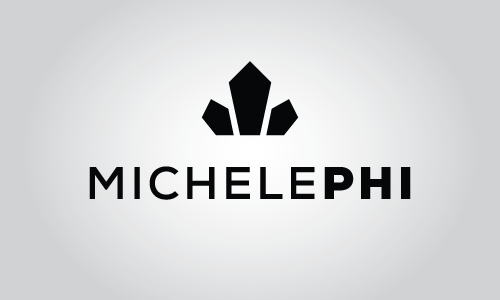MichelePhi logo with a vertical layout.